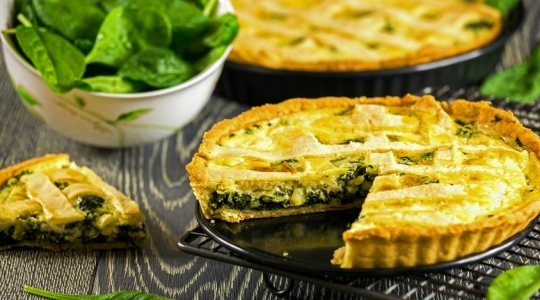 Spinach, blue cheese quiche Cook Expert Magimix